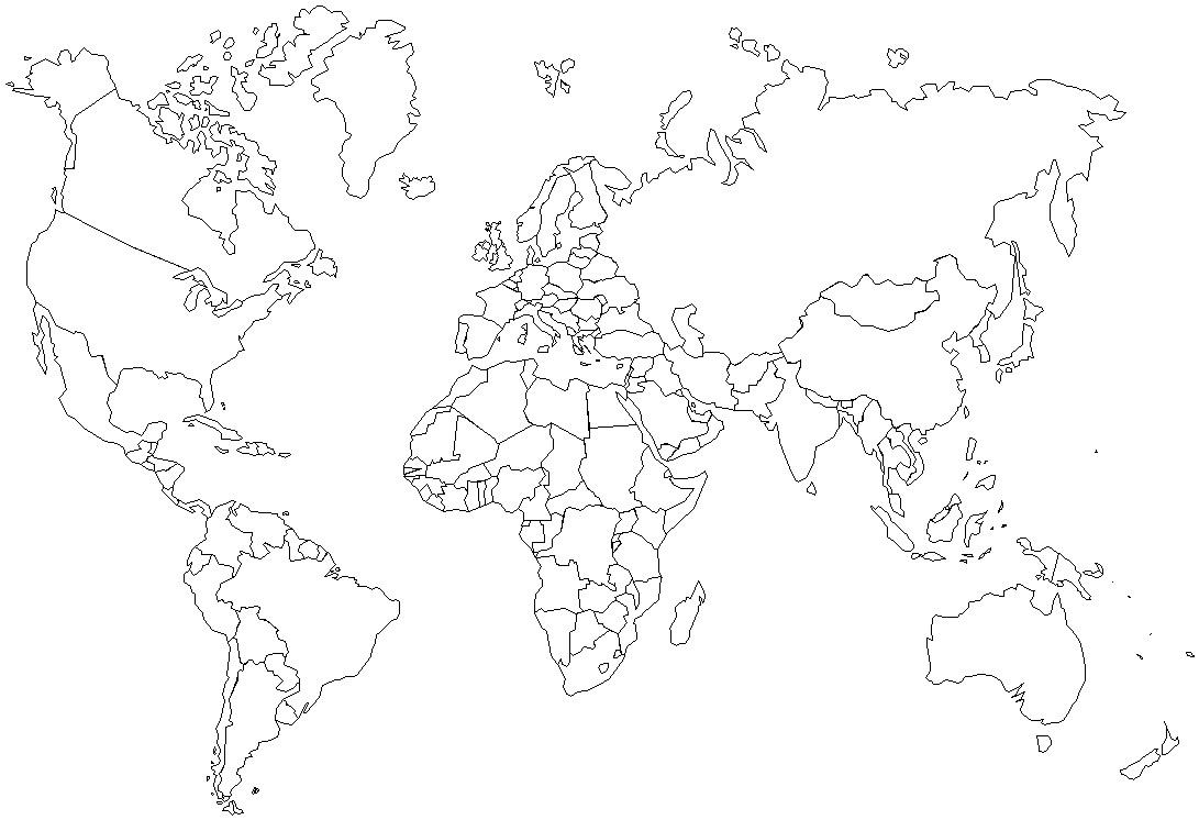 Slepa Mapa Sveta Mapa Sveta
